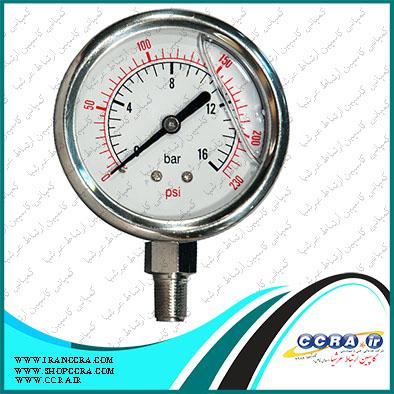 گیج فشار دستگاه تصفیه آب سافت واتر