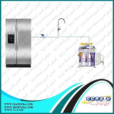 اتصال دستگاه تصفیه آب به یخچال